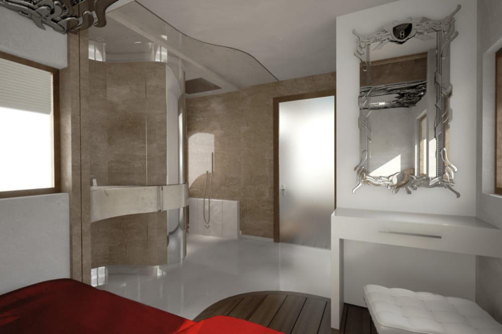 une salle de bain attenante