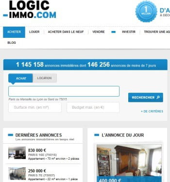 4 me logic le top 5 des sites d 39 immobilier en for Site immobilier france