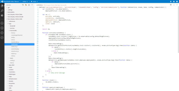 visualstudioonlinemonaco page