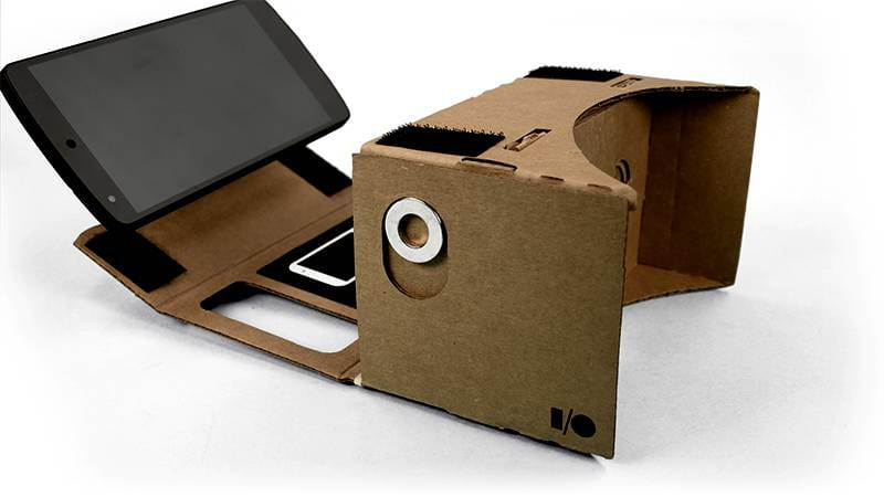 cardboard smartphone in