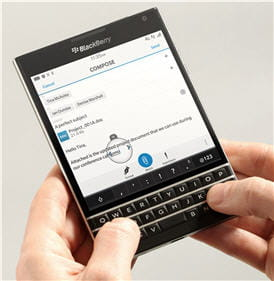 blackberry passport lancement