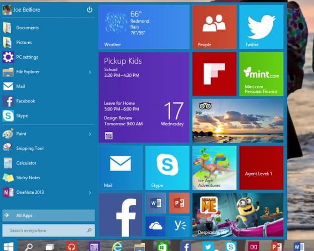 Un menu d marrer pour apps de bureau et tactiles windows for Bureau windows 10