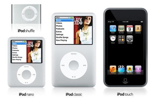 Les nouveaux iPod débarquent