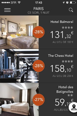 Hoteltonight verylastroom qu 39 apportent aux h teliers for Liste des hotels paris