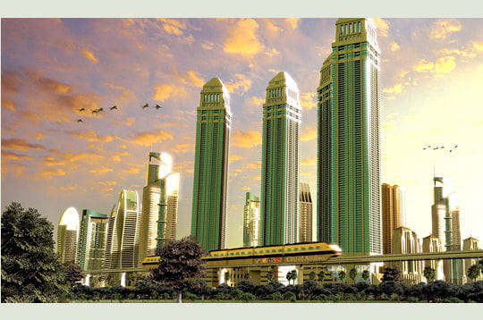 Une ville au milieu du désert