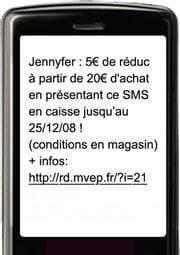 exemple de sms promotionnel envoyé aux abonnées du programme relationnel de la