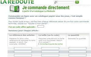 module de commande express sur le site de la redoute