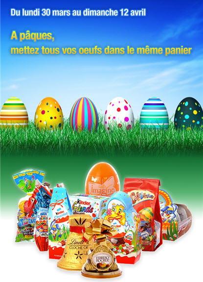 campagne leclerc express drive réalisée à l'occasion de pâques