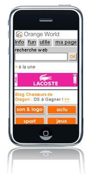 exemple de bannière lacoste touch of pink pour le plan média mobile