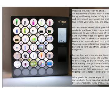 Des distributeurs automatiques haut de gamme cr ation for Idee creation entreprise etranger