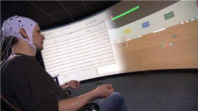 exemple d'utilisation du logiciel openvibe, ici dans une application de type