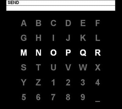 l'écran p300 speller qui permet de dicter des phrases par la pensée