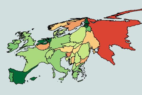le pib agricole   l u0026 39 europe  u00e9conomique en cartogrammes