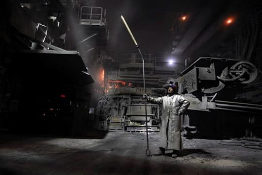 L'aciérie la nuit