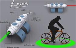 le laser de sécurité pour vélo