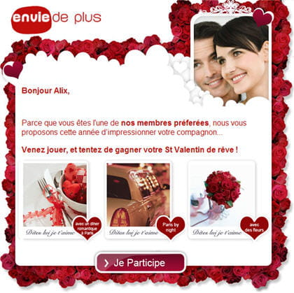 la campagne saint-valentin du programme relationnel 'envie de plus'
