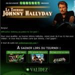 exemple d'e-mailing réalisé pour le tournoi johnny hallyday