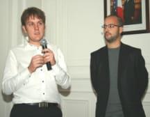 julien llanas (enseignant) et sébastien bru (directeur du développement d'ad