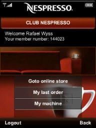 site mobile de nespresso