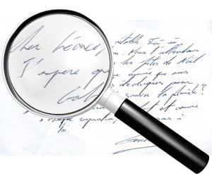 exemple d'écriture caractérisée par des hampes et jambages prononcés.