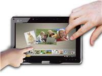 le tactile se prête bien à une utilisation internet et multimédia.