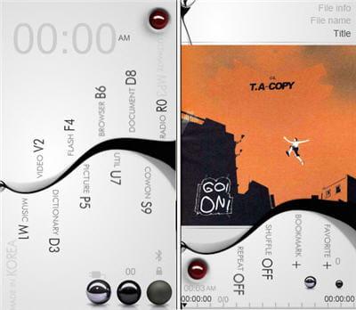 la très jolie interface personnalisée curvesline que j'utilise au quotidien