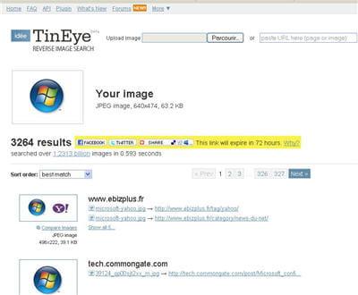 retrouver une image sur tous les sites internet où elle se trouve.