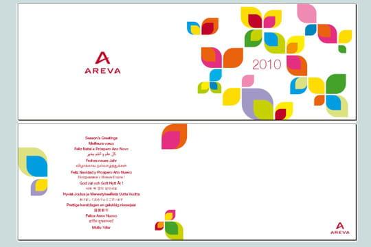 areva   les cartes de voeux 2010 des grandes entreprises