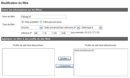 exemple de modification d'un filtre dans google analytics