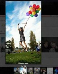 photos hébergées sur flickr passées en slide show sur google buzz