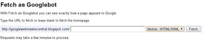 le service fetch as googlebotpermet de soumettre une page web à google pour