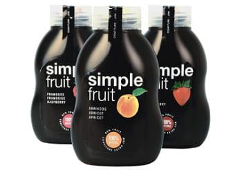confiture en gourde simple fruit.
