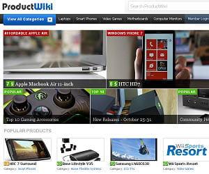 page d'accueil de productwiki