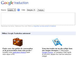 le service de traduction automatique de google