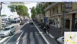 l'affichage street view sous google maps