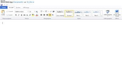 créer des documents bureautiques et les gérer depuis son compte windows live