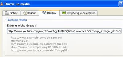 l'interface où il faut coller l'url de la vidéo qui nous intéresse.