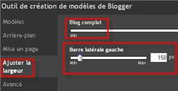 capture d'écran de la fonction 'ajuster la largeur' de l'outil de création de