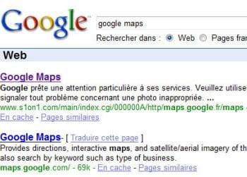 capture d'écran montrant comment un site a réussià mieux se faire référencer