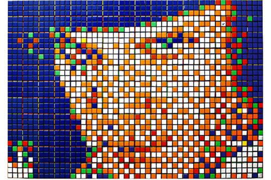 Pixel art Space Invaders