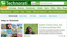 technorati fait partie des plus anciens moteurs de blogs.