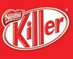 le logo de kit-kat détourné par greenpeace