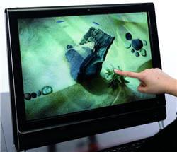 un ordinateur tactile sous windows 7.