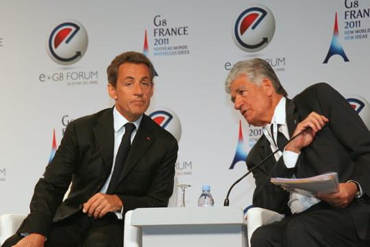 Nicolas Sarkozy invite, Maurice Lévy organise