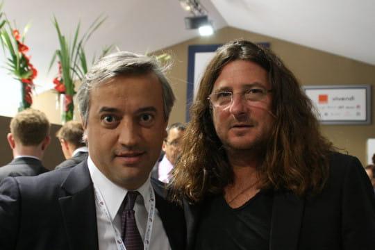 Dominique Delport (Havas) et Jacques-Antoine Granjon (Vente Privée)