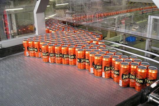 Production cannette de bière