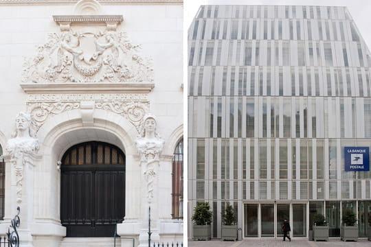 façade Banque Postale, Caisse Nationale d'Epargne