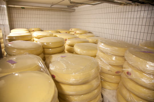 assortiment de fromages   la fabrication de la vache qui